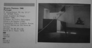 """ BioVirtual"" ,in: catalogo IV Bienal Cerveira 1984, © silvestre pestana"