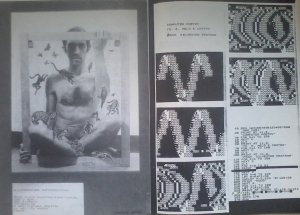 """""""Computer Poetry"""", Poem Code,1981, ZX 81 publicado no catàlogo ALTERNATIVA II Festival Internacional de Arte Viva 22 a 31  Julho 1982, Almada /Portugal. O conjunto foi posteriormente publicado  em """"POEMOGRAFIAS"""", 1985. © silvestre pestana"""