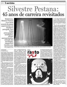 Diario de Noticias Silvestre Pestanas 45 anos de carreira