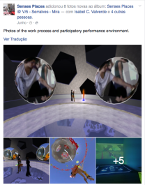 Senses Places, photos of the work process and participatory performance environment
